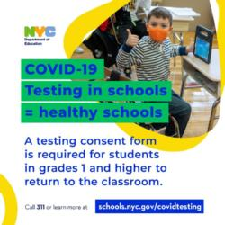 Mandated Covid Testing for Blended Learners & Staff When School Buildings Reopen