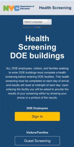 Health Screening - REQUIRED of ALL entering DOE Buildings ...